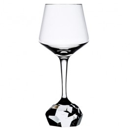 13 ounce BOMMA Stone Collection Crystal Red Wine Glass - Set of 2