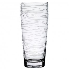 11.5 Inch Tall BOMMA Dune Collection Crystal Vase