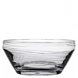 12.5 Inch Diameter BOMMA Dune Collection Crystal Centerpiece Bowl
