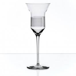 BOMMA Lines Collection Crystal 6.8 oz White Wine Glass - Set of 2
