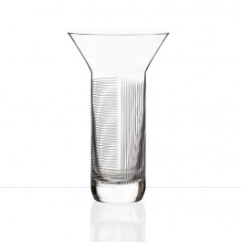 BOMMA Lines Collection Crystal Vase, 10""