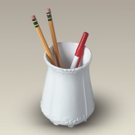 "4.5"" Scrolled Pencil Holder"