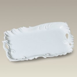 "11"" Scrolled Rectangular Tray"