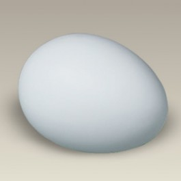 "2.75"" Bisque Egg"