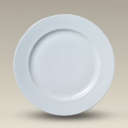 """10.5"""" Porcelain White Rim Plate, SELECTED SECONDS"""