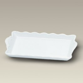 "7.25"" Fluted Edge Tray"