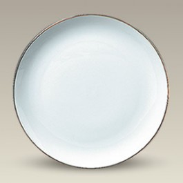 "9.25"" Porcelain Gold Trimmed Coupe Plate"