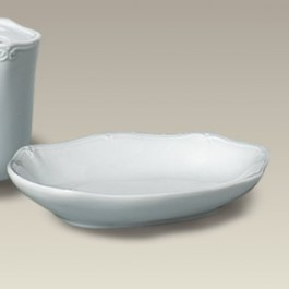 "5.5"" Scrolled Edge Soap Dish, SELECTED SECONDS"