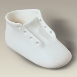 "3.25"" Bisque Baby Shoe"