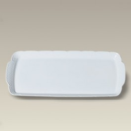 "14.25"" Minuet Sandwich Tray with Designer Back Stamp, SELECTED SECONDS"