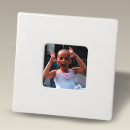 "6"" Square Cameo Bone Picture Frame"