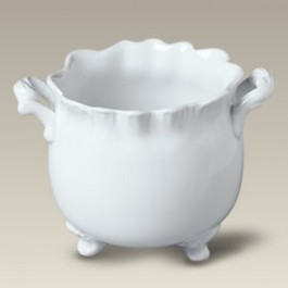 """5.75"""" Antique Shaped Footed Planter"""