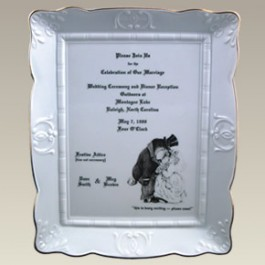"10.25"" Wedding Invitation Plaque"