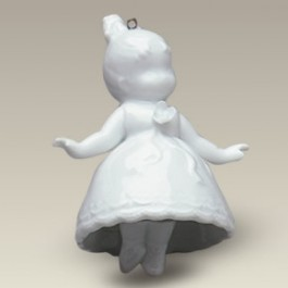 """3.25"""" Hanging Ballerina Bell, CAN NOT BE KILN FIRED!"""