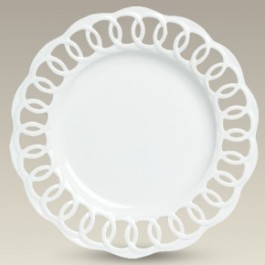 """10"""" Openwork Round Plate, SELECTED SECONDS"""