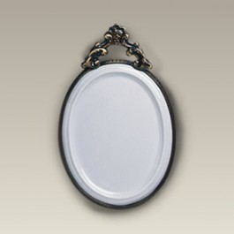 """5.675"""" Oval Plaque with Metal Frame"""