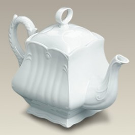 46 oz. Square Scrolled Teapot