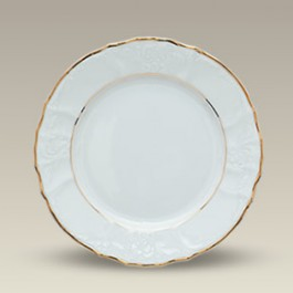 "7.5"" Double Gold Banded Bernadotte Plate"