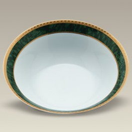 "9"" Malachite Vegetable Bowl"