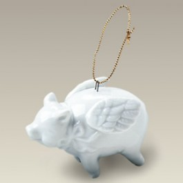 "2.75"" Flying Pig Ornament"