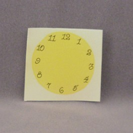 Clock Face Decal, Black, 2.75""