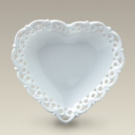 "5"" Heart Shaped Thin Openwork Plate, SELECTED SECONDS"