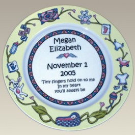 "9.25"" Baby Birth Plate, Not Personalized!"