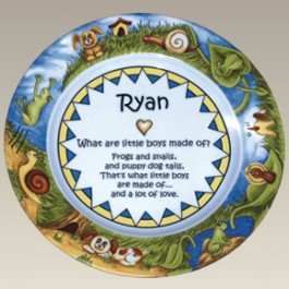 """9.25"""" Boy Baby Plate, Not Personalized!"""