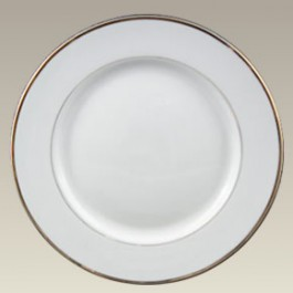 """10.62"""" Double Gold Banded Rim Plate"""