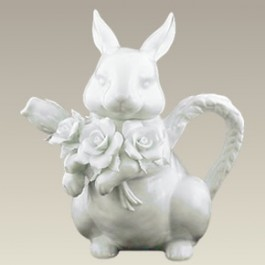 "Rabbit Teapot, 16 oz., 7.5"" high"