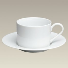 Straight Sided Cup and Saucer