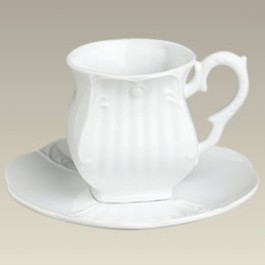Square Cup and Saucer, 8oz., SELECTED SECONDS