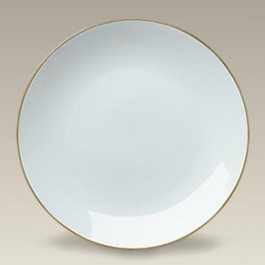 """9.25"""" Gold Banded Coupe Plate"""