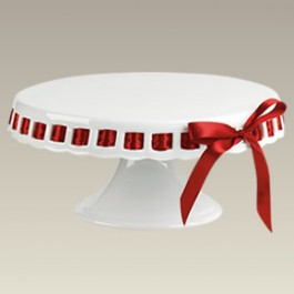 """Footed Cake Plate with Openwork, 9.75"""""""