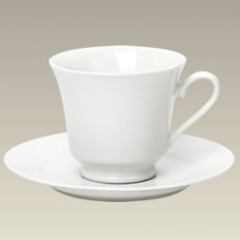 Plain Cup and Saucer, 8 oz.