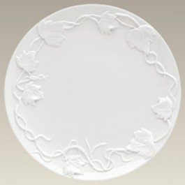 Plate with Pumpkin Leaves Embossing, 12.25""