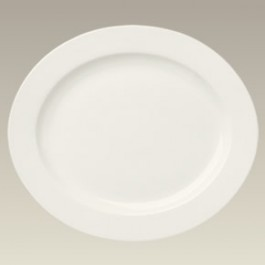 "15.75"" Cream Colored Oval Platter, SELECTED SECONDS"