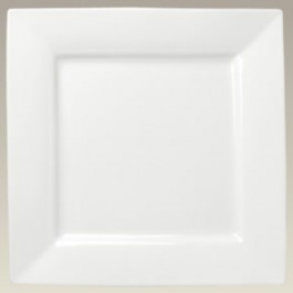 "12"" Rim Shape Square Plate, SELECTED SECONDS"
