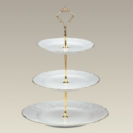 Three Tier Bernadotte Tidbit Tray