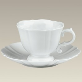 Scalloped Cup & Saucer, 6 oz.