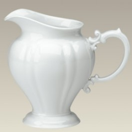 "Scalloped Pitcher, 32 oz., 7"" high"