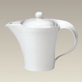 "Teapot with Swirl Handle, 6 5/8"" High"