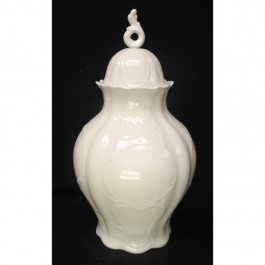 "Urn with Lid, Dresden Embossing, 14.5"" x 7"""