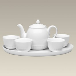 Teapot with Infuser, 4 Cups & Tray