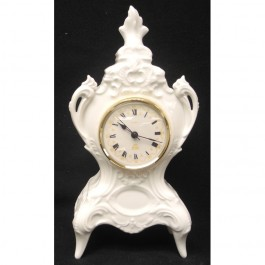 "Footed Lindner Quartz Clock, 10.75"" High"
