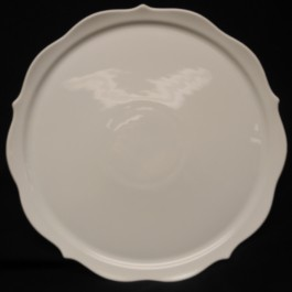 Lindner Scalloped Cake Plate, 13.25""