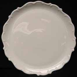 Lindner Cake Plate w/ Baroque Scrolled Edge, 12.5""