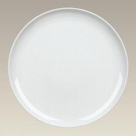 """12""""  Coupe plate with holes for hanging"""