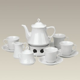 Tea Set with Warmer and 4 C&S