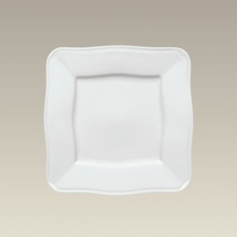 """8.5"""" Square Plate with Scrolled Edge"""